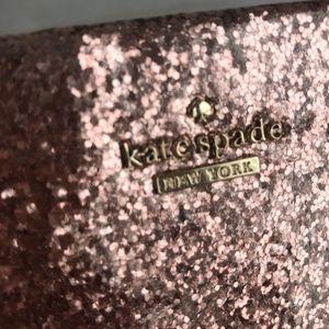 kate spade glittery pink clutch or crossbody bag